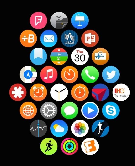 My Apple Watch App Layout